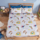 床包 / 雙人加大【迷路的床邊故事-灰】含兩件枕套 100%精梳棉 戀家小舖台灣製AAL301