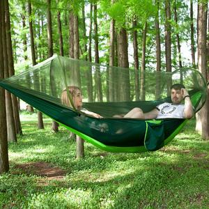 PUSH!戶外用品新款防蚊吊床速開帳篷型吊床帶蚊帳P136綠+綠綠+綠