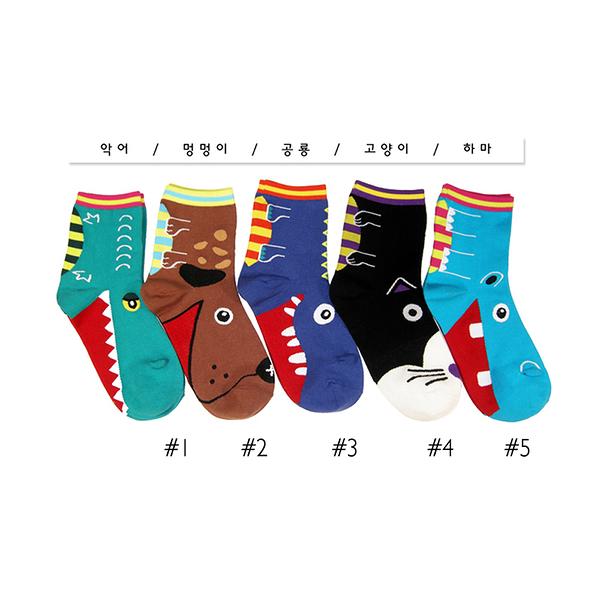 韓國動物造型短襪-多款任選 (SOCK-005-C)