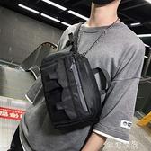 男士胸包時尚運動腰包街頭潮流多功能包牛津布嘻哈單肩斜背包 快速出貨