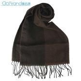 Vivienne Westwood 新款雙色混羊毛logo披肩圍巾(茶色)910531-1