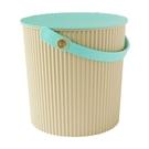 【促銷】日本優秀設計獎賞HACHIMAN時尚L型10公升收納桶(綠色系)