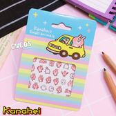 KANAHEI 卡娜赫拉的小動物 粉紅兔兔 P助 美甲貼 指甲貼紙 彩繪貼紙 B款 COCOS PD285
