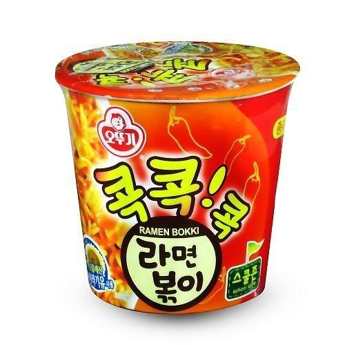 韓國不倒翁辣炒年糕乾拌杯麵 65g【愛買】