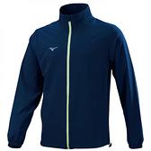 MIZUNO 男裝 外套 立領 套裝 4WAY彈性 抗紫外線 平織 藍【運動世界】32TC158514