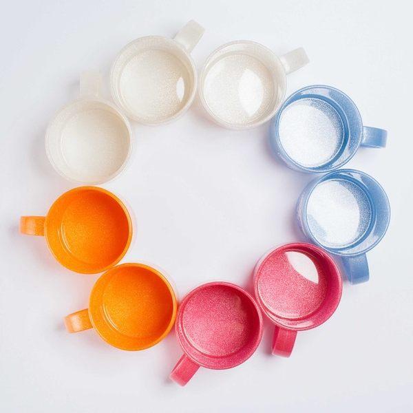 日本製mju-func®銀纖維高級抗菌加工潄口杯雙人2件組(粉橘+粉橘UG-OO)-妙屋房