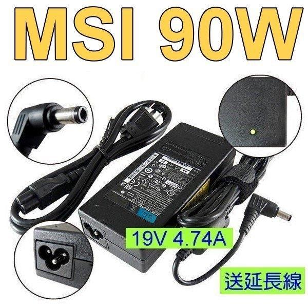 微星 MSI 原廠規格 變壓器 19V 4.74A 90W CR400,CR420,CR500,CR610,CR600,CR620,CR630,GX600,GX610,GE600
