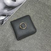 2色 小錢包女短款拉鏈零錢位正韓迷你折疊個性潮簡約錢夾 巴黎時尚生活