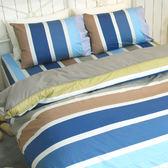 雙人床包組(含枕套) /100%精梳棉-夏天的風【大鐘印染、MIT台灣製造】#精梳純綿