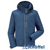 德國 SCHOFFEL 男 防水透氣 連帽外套 深藍 2021164