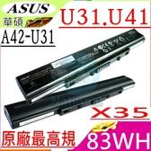 ASUS 電池(原廠最高規)-華碩 X35,X35F,X35J,X35JG X35SD,X35SG,X35KI X35KB,X35S,A32-U31,A42-U31