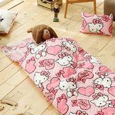 兒童睡袋加大款 冬夏鋪棉兩用 三麗鷗授權- 粉紅佳人