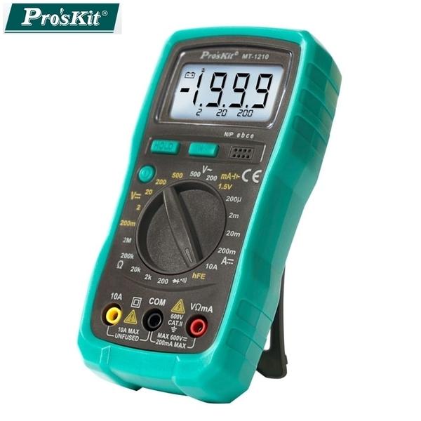 又敗家@台灣製造Pro'sKit寶工3 1/2數位型電錶MT-1210(電壓電流電阻)數位電錶三用電錶數位電表digital