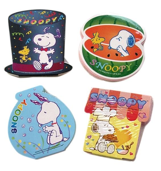 【卡漫城】 Snoopy 迷你 便利貼 四入組 ㊣版 日本製 史奴比史努比 Memo 隨意貼 N次貼 留言貼 便條紙