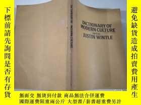 二手書博民逛書店DICTIONARY罕見OF MODERN CULTURE EDITED BY JUSTIN WINTLEY3