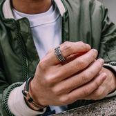 鋼戒 個性梵文戒指霸氣鈦鋼尾戒時尚情侶對戒潮人創意指環 巴黎春天