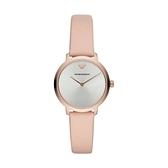 【Emporio Armani】義式格紋波狀簡約時尚腕錶-少女粉/AR11160/台灣總代理公司貨享兩年保固