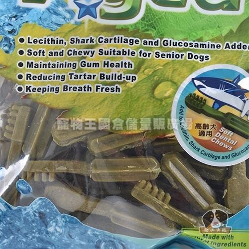 【寵物王國】美國A☆star Aged-雙刷高齡犬用潔牙骨S-240g