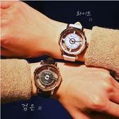 2件免運 手錶 女錶 韓版 簡約玻璃縷空 男錶 情侶對錶