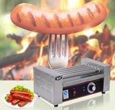 烤腸機 5管烤腸機熱狗機單控溫不銹鋼五棍烤香腸機器火腿腸 晶彩生活