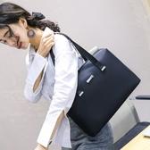 促銷時尚商務大學生工作檔案A4紙大容量小文件夾資料袋展業辦公包女LX 宜室