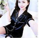 夏冰絲寬鬆短袖短褲兩件套LVV528【kikikoko】