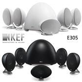 【 結帳再折扣】英國KEF E305 家庭影院揚聲器系統六件式黑白兩色 貨