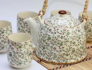景德鎮陶瓷7頭禮品家用提梁大茶具套裝