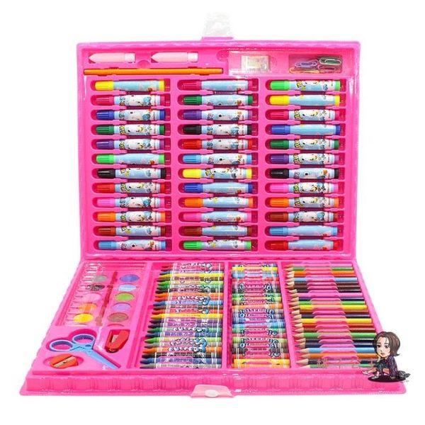 水彩筆 兒童水彩筆繪畫套裝送畫本禮盒畫筆蠟筆幼兒園禮物小學生美術用品 2色