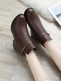 媽媽棉鞋冬季短靴中老年人加絨保暖軟底防滑皮鞋中年女鞋 創時代3c館