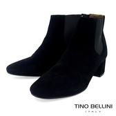 Tino Bellini 經典絨布質感中跟切爾西靴 _ 黑 FS8504