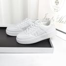小白鞋女環球板鞋運動老爹女鞋子2021年春季新款厚底白鞋百搭小白鞋ins潮 歐歐
