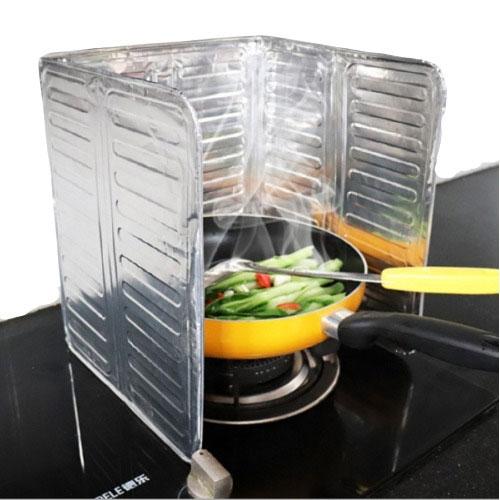 Qmishop 鋁箔擋油板 炒菜隔板 防濺油 瓦斯爐 煎魚 可摺疊 廚房擋油板【J1654】