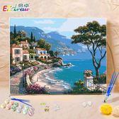 diy油畫數字畫客廳風景歐式成人兒童手繪填色