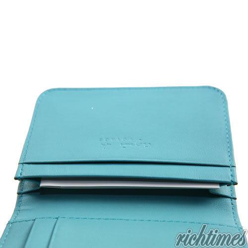【裕代 agnes b.】點點LOGO名片夾(藍) AB1C5906
