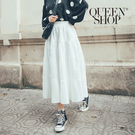 Queen Shop【03020609】蛋糕傘擺百摺造型長裙 兩色售*現+預*