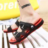 夏季涼鞋男士拖鞋一字拖鞋時尚外穿沙灘鞋防滑洞洞拖鞋潮cp1123【野之旅】