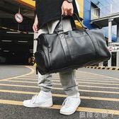 旅行袋大容量運動包健身旅行包手提旅遊包行李袋單肩包韓版斜背包鞋包潮 蘿莉小腳ㄚ