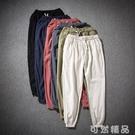 棉麻褲唐裝漢服夏季中國風薄款亞麻9分棉麻褲寬鬆小腳麻料男褲子古風潮 可然精品
