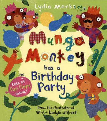 【麥克書店】MUNGO MONKEY HAS A BIRTHDAY PARTY /英文繪本 《操作翻翻書》