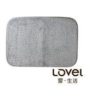 Lovel馬卡龍超細纖維止滑浴墊/地墊(棉柔灰)