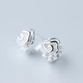 耳環 925純銀(耳針式)-清新典雅生日情人節禮物女飾品73ds26【時尚巴黎】