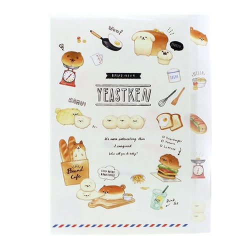 麵包柴犬日本製造型五層分類文件夾(廚房)★funbox★KAMIO_KM08318
