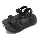 Skechers 涼拖鞋 Go Walk Arch Fit 黑 女鞋 吸震中底 魔鬼氈 涼鞋【ACS】 140251BBK