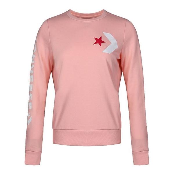 CONVERSE 女款粉紅色原領T恤-NO.10008127-A03