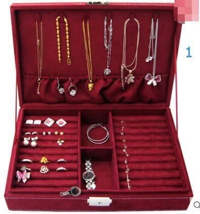 首飾盒珠寶絨布寶箱化妝飾品戒指盒簡約生日禮物