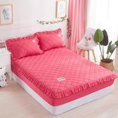限定款鋪棉單床包/雙人素色加厚舖棉床包150x200公分席夢思/床墊保護套 床罩/床單 防滑床套保潔墊