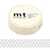 日本mt Masking Tape 和紙膠帶 透明底白點 15mm