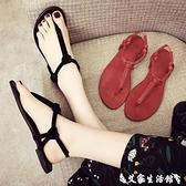 夾腳涼鞋 涼鞋女夏季仙女風海邊度假網紅羅馬百搭平底波西米亞夾腳沙灘女鞋 【618 購物】