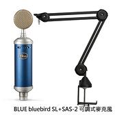 BLUE bluebird SL 大型振膜 電容式麥克風 公司貨 兩年保固 + CKMOVA SAS-2 麥克風支架